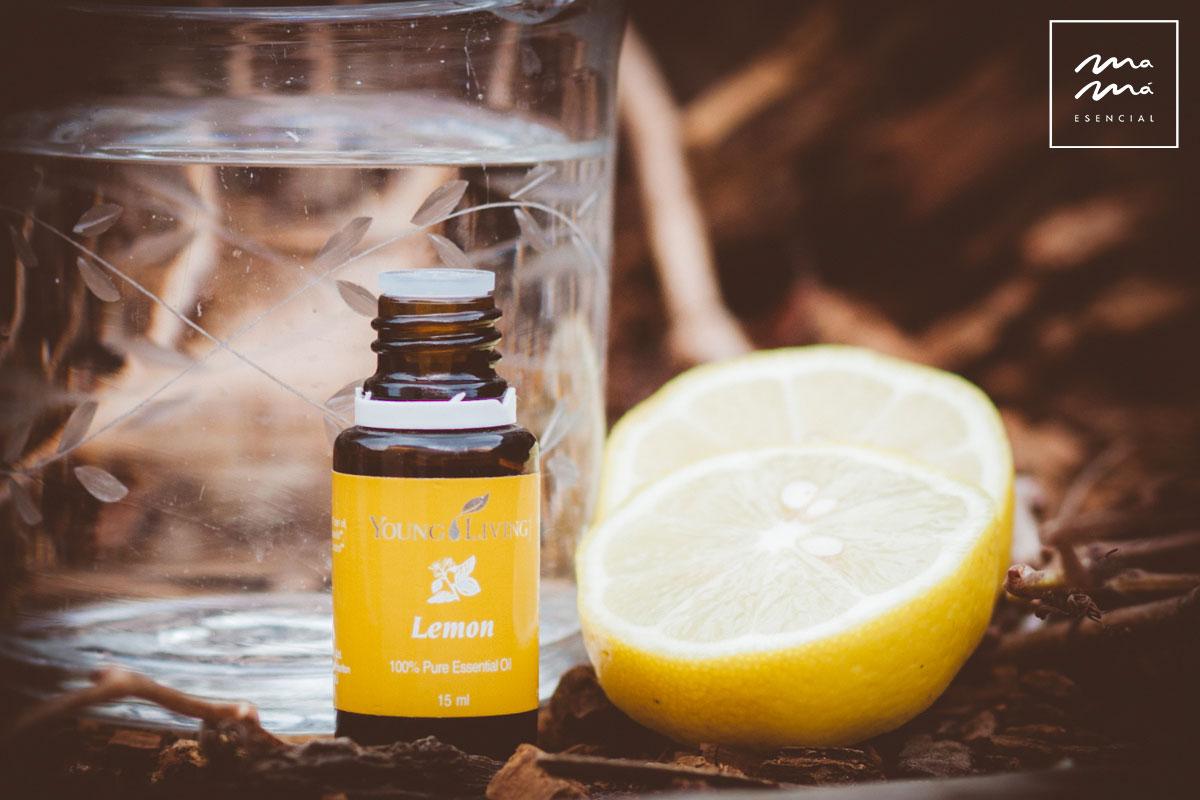 Aceite esencial de limón por la mañana