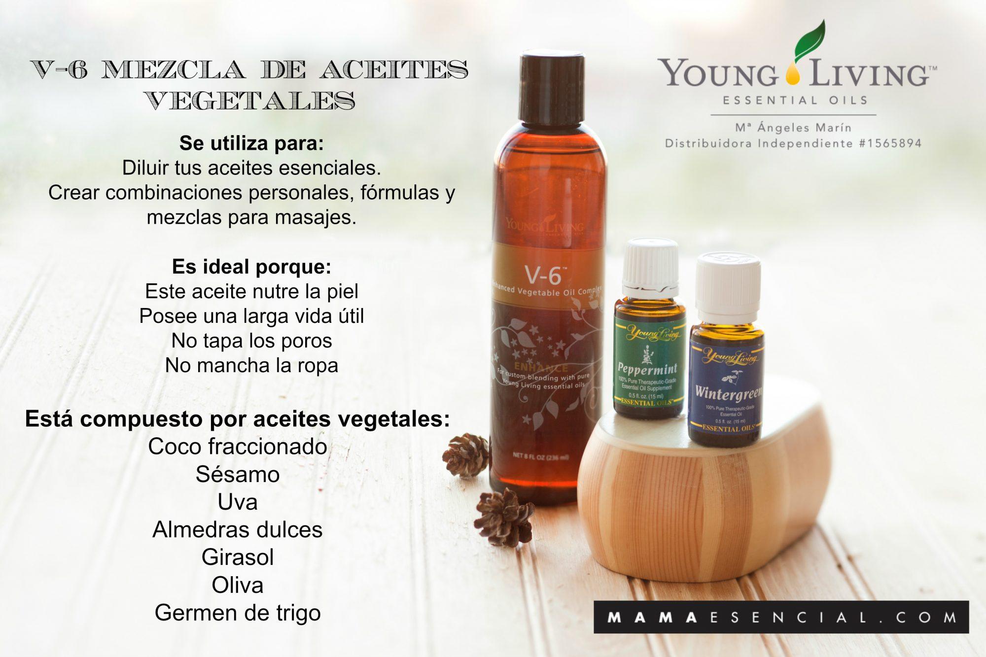 V-6 MEZCLA DE ACEITES VEGETALES DE YOUNG LIVING