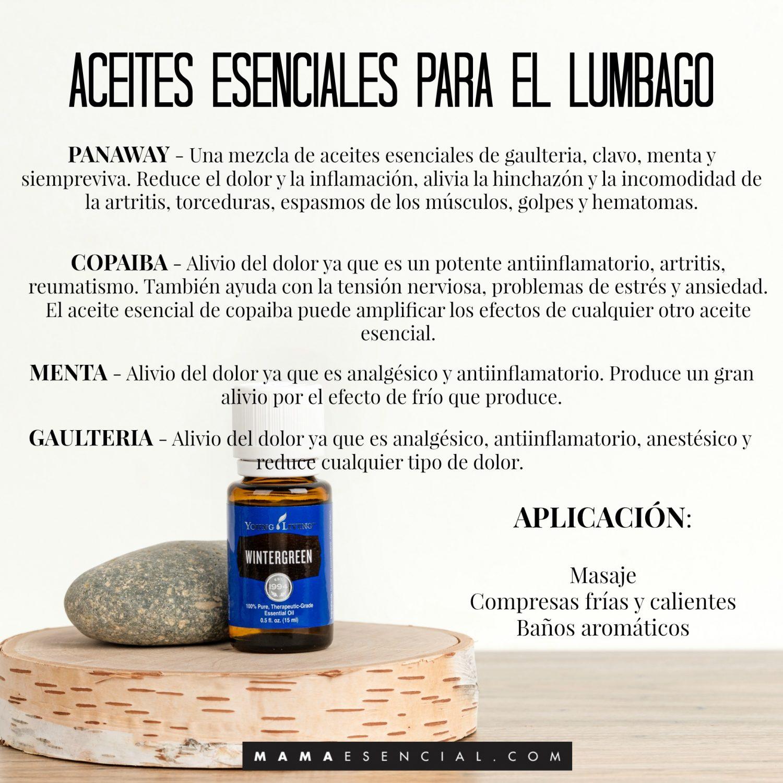 ACEITES ESENCIALES PARA EL LUMBAGO
