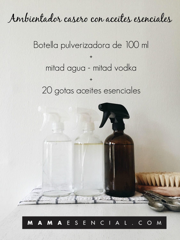 AMBIENTADOR DE SPRAY CASERO CON ACEITES ESENCIALES