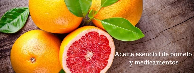 Aceite esencial de pomelo y medicamentos