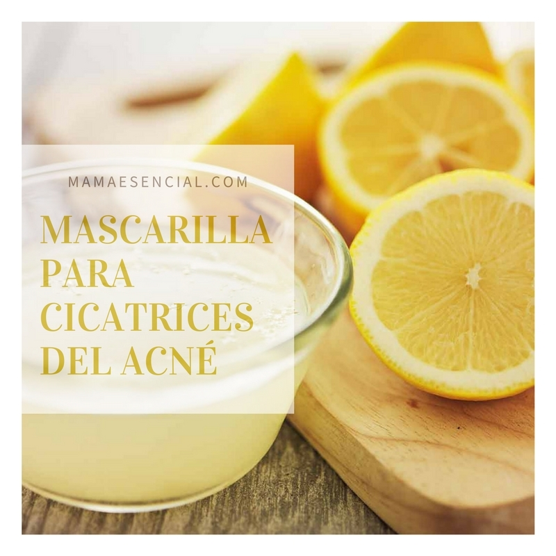 Mascarilla para eliminar cicatrices del acné