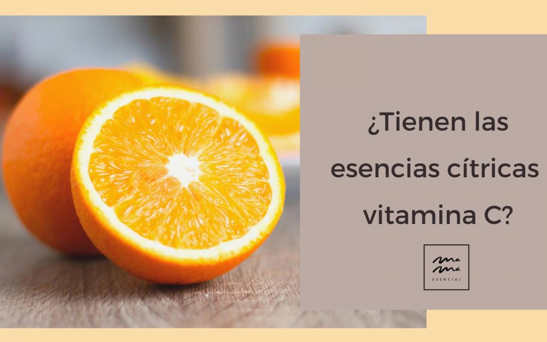¿Tienen los aceites esenciales cítricos vitamina C?